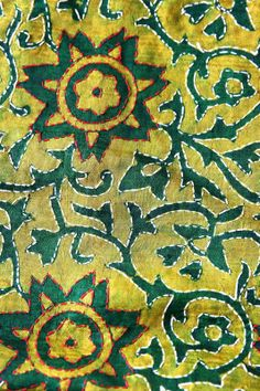 Kantha work on green Batik cloth for St.Patrick's Day!     #kantha #green #RiitiFashions