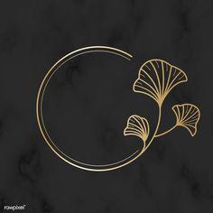 Illustration Ligne, Logo Fleur, Logos, Snapchat Stickers, Round Logo, Flower Logo, Badge Design, Beauty Logo, Creative Logo
