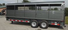 Stoll Livestock Trailer with Metal Top Trailer Store and Truck Accessories - Galax, Va. Livestock Trailers, Dump Trailers, Cargo Trailers, Horse Trailers, Tilt Trailer, Car Hauler Trailer, Landscape Trailers, Enclosed Trailers, Motorcycle Trailer