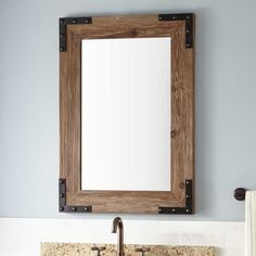 Bonner Reclaimed Wood Vanity Mirror Pine In 2019 Remodel within proportions 1500 X 1500 Pine Bathroom Mirror - An elite user must not miss to select the Wood Framed Bathroom Mirrors, Diy Vanity Mirror, Wood Mirror, Wood Bathroom, 30 Vanity, Rustic Mirrors, Vintage Mirrors, Bathroom Plants, Decorating Kitchen