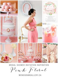 Pink Floral Bridal Shower Invitation Inspiration by the Monogram Gallery