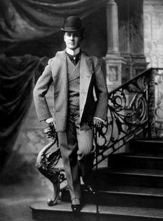 A fashionably dressed man, circa 1895. Photo: Courtesy Everett Collection  - stock photo