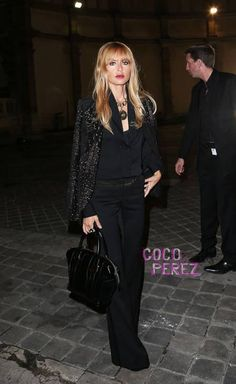 Rachel Zoe brings back bangs at Lanvin's spring 2013 Paris Fashion Week show.