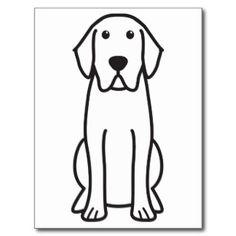 Labrador Retriever Dog Cartoon Post Cards