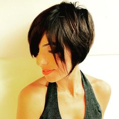 Short hair , hair cut