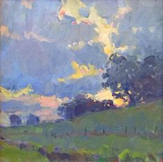 Clouds by Richard Oversmith Oil ~ 12 x 12