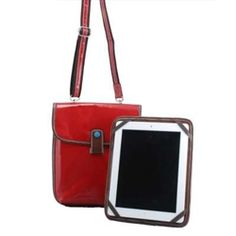 Coated Organic Cotton Canvas iPad/Tablet Bag... bright, colorful, professional looking! $49.00