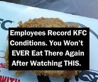 Employees Record KFC Conditions. You Won't EVER Eat There Again After Watching THIS.