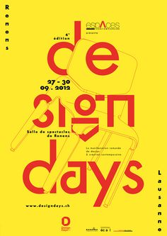 Poster for the Design Days 2012 in Renens and Lausanne by Yvo Hählen / A3studio