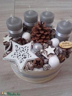 HAVAS VARÁZSLAT adventi box KÉSZTERMÉK, Dekoráció, Ünnepi dekoráció, Karácsonyi, adventi apróságok, Karácsonyi dekoráció, Virágkötés, Mindenmás, Meska