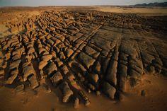 Chad. Wind eroded rocks near Guelta Archei in the Ennedi Massif. Sahara Desert #Africa