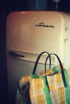 Old refrigerators are the coolest Refrigerators, Appliances, Old Refrigerator, Pie Safe, Do You Remember, Rustic Kitchen, Old School, Crock, Kitchens