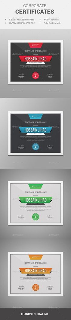 31 best PSD Templates   Certificate Design images on Pinterest     Certificate by themedevisers Modern Certificate Template  Use this Certificate  Template in your business  company or institution in completion of any  course