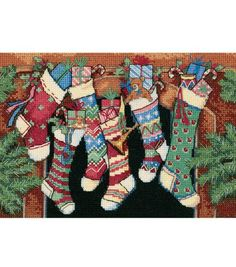 Dimensions® 7''x5'' Counted Cross Stitch-The Stockings Were Hung