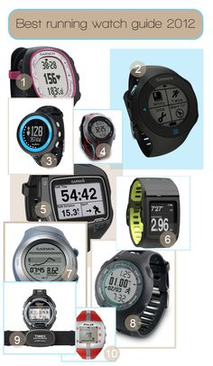 Best heart rate watches and GPS watches for 2012 ... I have the Garmin Forerunner 610 - which is one of the only GPS watches with touchscreen and cute enough to wear every day!