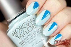 Point Taken!  Some new and springy nail art using the new Morgan Taylor nail polish line! You definitely need to check this brand out!   Click on through for more pictures and info on what I used and where you can get your hands on it! :D  #nailart #morgantaylor #tapemanicure #stripingtape #moonmanicure #thedailynailblog