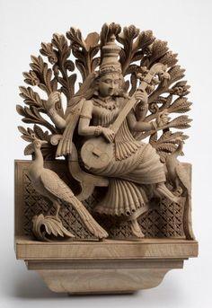 Sarswati devi 727 Asian Art Museum Online Collection Saraswati Idol, Saraswati Statue, Saraswati Goddess, Indian Gods, Indian Art, Buddhism Wallpaper, Clay Art Projects, Asian Art Museum, Tanjore Painting