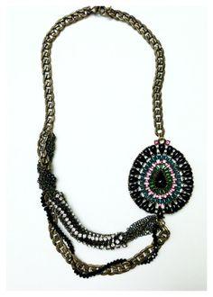 Handmade Antiqued Bronze Chain Statement Necklace by UnbiasedHeart, $40.00