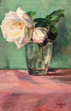 WHITE ROSES by Duncan Grant