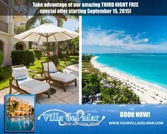 #vacation Take advantage of our amazing fall special! http://www.yourvilladelmar.com/blog/turks-and-caicos-best-rates-for-fall-2015/ …
