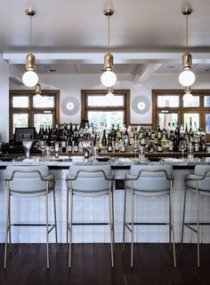 Great bar and kitchen design ideas are not all about the overall look of the room! Time to discover upholstered bar stools. Bar Interior, Restaurant Interior Design, Commercial Interior Design, Design Hotel, Commercial Furniture, Lobby Interior, Restaurant Interiors, Lobby Design, Lounge Design