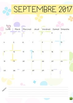 Bonjour bonjour! Aujourd'hui, je vous propose la version 2017 de mon calendrier! Celle de 2016 a été très plébiscitée et vous m'aviez demandé (enfin certains! :P ) la suite. J'esp… Bujo, Planner Organization, Diy And Crafts, Bullet Journal, Printables, Journaling, Scrap, Stuff Stuff, Day Planners