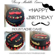 Moustache Cake yum yum