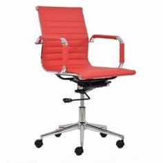 Casino Ribbed Office Chair Red