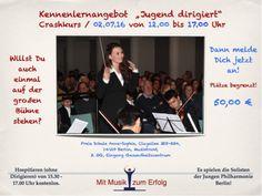 Dirigier-Workshops zum Ausprobieren und Kennenlernen für Jung und Alt gibt es alle zwei bis drei Monate in Berlin Zehlendorf.