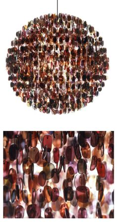 Danielle Mazur: Stuart Haygarth - The chandelier is created from over 4500 prescription spectacle lenses. I like how he creates such striking artwork out of everyday and normal objects.