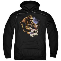 KING KONG/KONG AND ANN-ADULT PULL-OVER HOODIE-BLACK