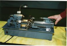 Miniature working model of Hardinge Precision Toolroom Lathe built by Bill Huxhold to exactly 1/6 scale (http://www.craftsmanshipmuseum.com/huxhold.htm).