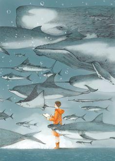 El artista chino Jin Xingye es el creador de estas bonitas ilustraciones que logran transportarte a otro mundo.