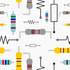Resistor Seamless Pattern