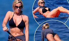 Camille Grammer keeps it healthy with Hawaiian paddleboarding vacation