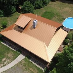 Our Steel Roof Color Copper Penny Installed By Parraghi