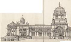 Grand bâtiment, Façade Sud - 1:125