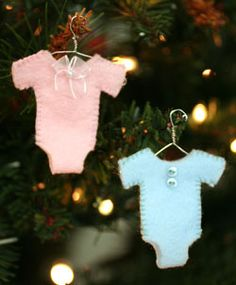 felt onesie ornaments add baby names and date of birth