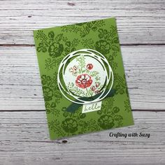 Fun Crafts, Paper Crafts, Stampin Up Christmas, Stamping Up, Summer Flowers, Stampin Up Cards, Fun Projects, Give It To Me, Greeting Cards