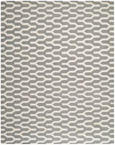 Safavieh Dhurries Contemporary Indoorarea Rug Silver / Ivory