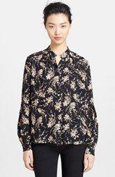 Michael Kors Elderflower Print Silk Shirt