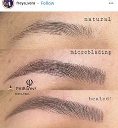 Semi Permanent Makeup, Permanent Makeup Eyebrows, Eyebrow Makeup, Mircoblading Eyebrows, Eyebrows Goals, Eyelashes, Eyeliner Tattoo, Eyebrow Tattoo, Eyebrow Before And After