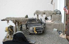 "Diorama ""US Camp in Afghanistan ( PMC at Work )"""