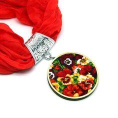 Árvácskás textil medál narancssárga sálékszer I www.feminashop.hu