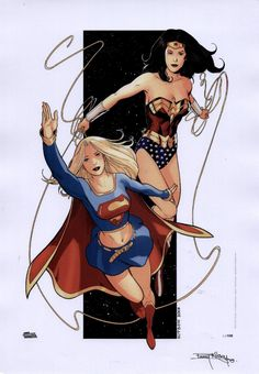 Batgirl and Supergirl and Wonder Woman | Supergirl and Wonder Woman by Barry Kitson