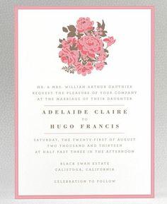 REVEL: English Rose Invitation