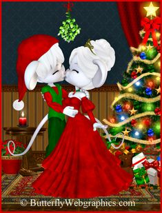 PSP tube download. Christmas mice tubes. Clipart for your holiday designs.