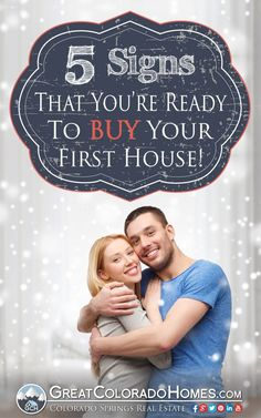 Have you been living with your parents too long? Been renting for too long? Here's 5 signs that you're ready to buy your first house! #realestate