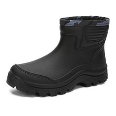 Upper:PVC Synthetic rubber sole+Breathable Mesh Lining Features:Pull-on closure,Waterproof, Wear resistant, Non-slip,Anti-slip tooth Short Ankle Rain Boot Clout Shoe Mens Rain Boots, Mens Ankle Boots, Synthetic Rubber, Short Boots, Rubber Rain Boots, Footwear, Tooth, How To Wear, Snow Days
