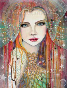 SALE Gypsy and Gypsy Rose Two Prints 5 x 7 by MollyHarrisonArt